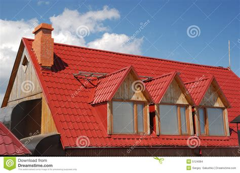 red roof stock photo image  construction tile estate