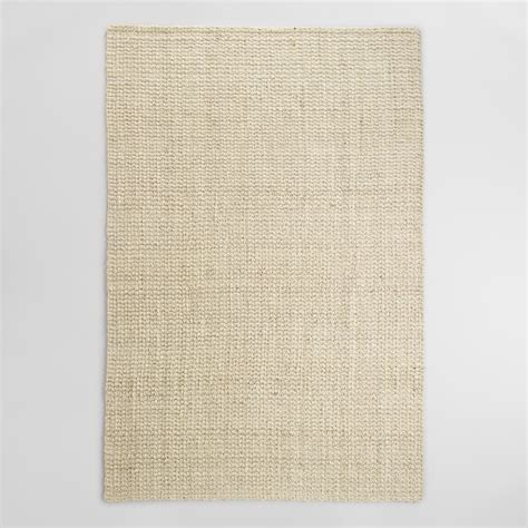 white jute rug cost plus world market bleached ivory basket weave jute