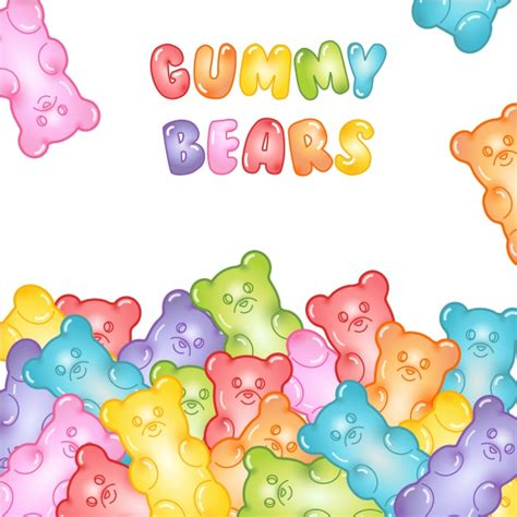 Gummy Background Gummy Bears Background Vector Premium