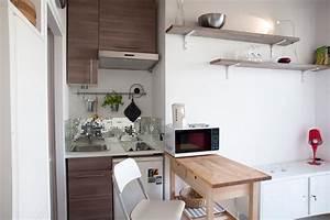 Kitchenette Pour Bureau : astuce comment meubler un petit studio astuces bricolage ~ Premium-room.com Idées de Décoration