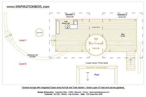 plan cuisine exterieure d ete agencement extérieur sur mesure en teck ipé et autres