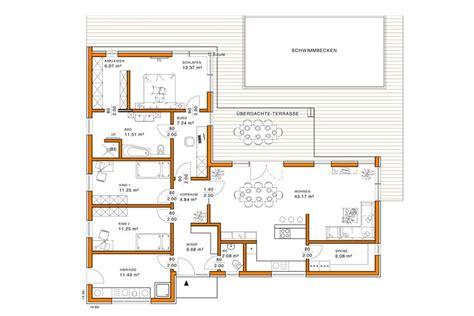 Moderne Bungalows Grundrisse by Moderne Grundrisse Bungalow U Form Bungalow Grundrisse
