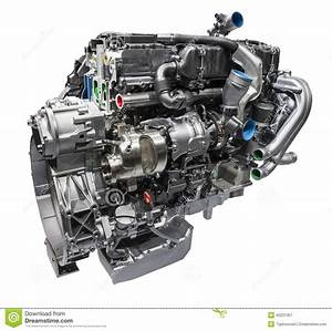 Modern Truck Diesel Engine Stock Image  Image Of Part