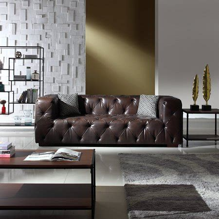 Chesterfield Sofa In Living Room by Large Tufted Real Italian Leather Chesterfield Sofa