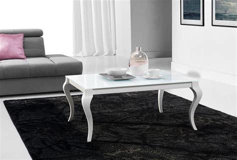 Hochwertiger Couchtisch Retro Tisch Mn-1 Weiß Seidenmatt