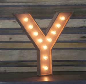 Letters With Lights by Edison Marquee Letter Quot Y Quot Town Amp Country Event Rentals