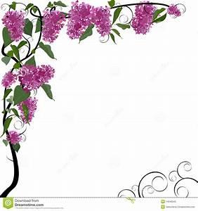 Vector floral border stock vector. Illustration of ...