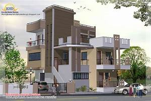 3 Story House Plan And Elevation 2670 Sq Ft Kerala