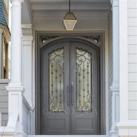 residential exterior wrought iron double security entry front doors chinaresidential