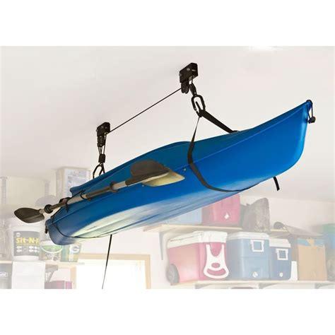 make my own kayak ceiling hoist 25 best ideas about canoe storage on kayak