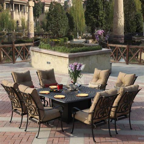 patio dining sets shop darlee santa 9 antique bronze aluminum
