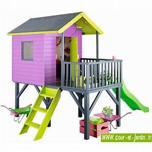 Toboggan Enfant Pas Cher : maison de jardin avec toboggan l 39 univers du b b ~ Dailycaller-alerts.com Idées de Décoration