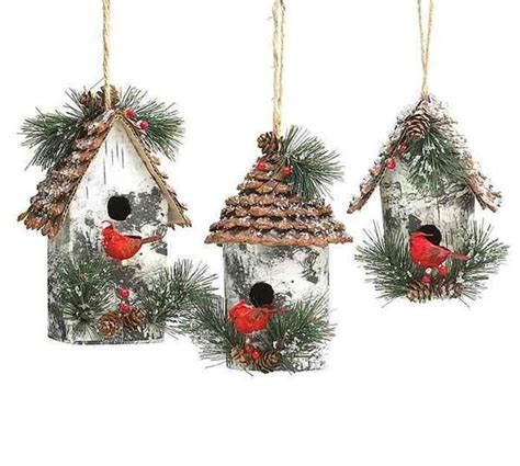large birdhouse ornaments fun  decorating