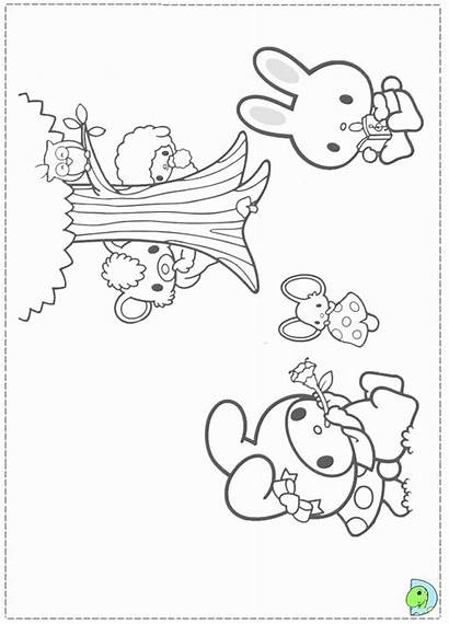 Coloring Melody Pages Kuromi Dinokids Colouring Mymelody