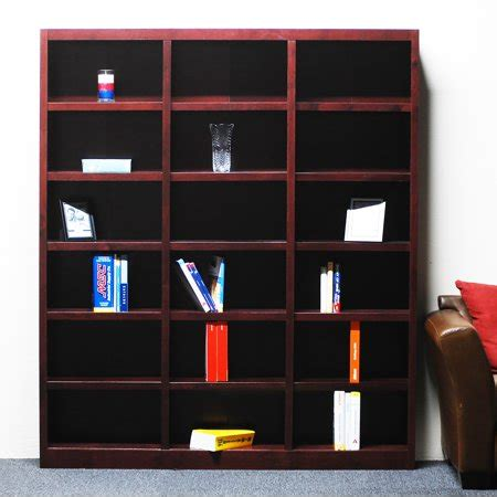 18 Inch Wide Bookcase Wood by 18 Shelf Wide Wood Bookcase 84 Inch Cherry