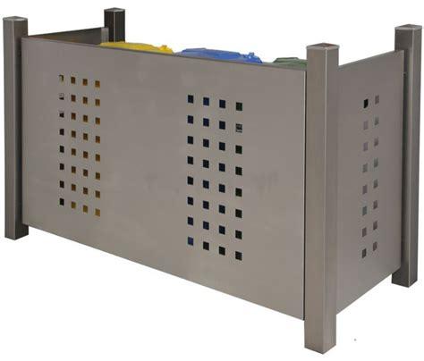 mülltonnenbox mit pflanzdach selber bauen m 252 lltonnenboxen edelstahl holz m 252 lltonnenverkleidung mit pflanzdach pultdach oder klappdach