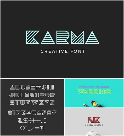 karma geometric font