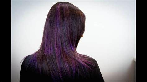 concave layer haircut  parentheses color technique