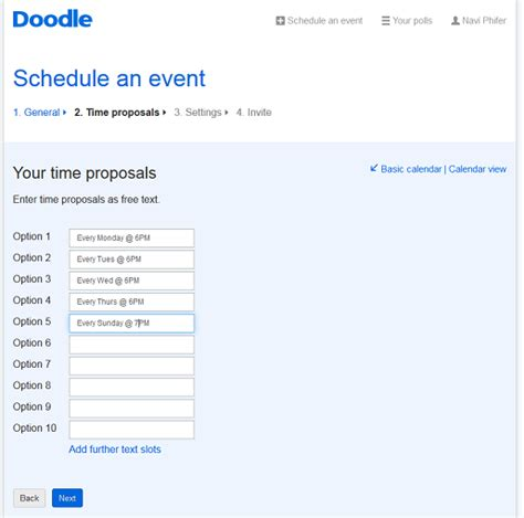 create an online survey with doodle for free