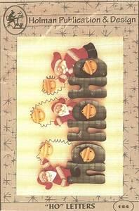 ho ho christmas wood letters tole painting pattern santa wood With ho ho ho metal letters