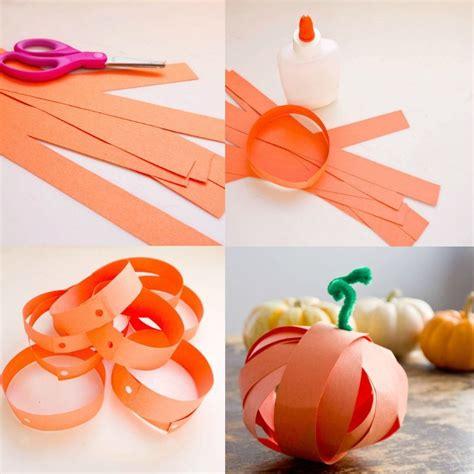 Herbstliches Basteln mit Kindern  Ideen mit Tonpapier