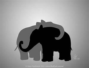 black and grey elephant silhouette | Elephant | Pinterest ...