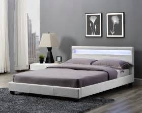 double king size bed frame led headboard night light and mattress stylish design ebay