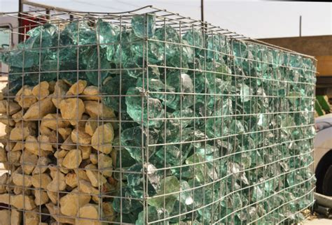 landscaping recycled natural green glass rocks  garden