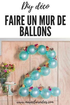 decoration murale avec des ballons idees de bricolage