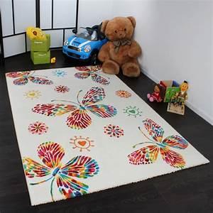 Teppich Für Kinder : kinder teppich butterfly creme teppichcenter24 ~ A.2002-acura-tl-radio.info Haus und Dekorationen