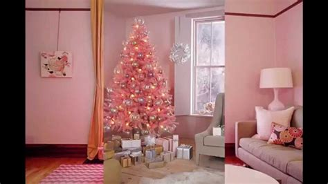 pink christmas tree decorations youtube