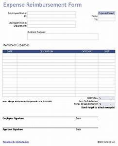 Employee Expense Reimbursement Form Download A Free Business Expense Reimbursement Form For