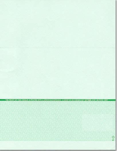 Blank Check Stock Paper BC302P11CC - Printech