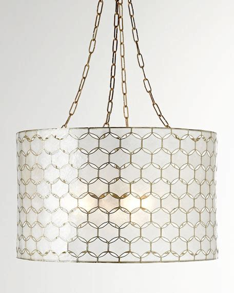 Capiz Drum Chandelier by Felicity Capiz 3 Light Pendant Neiman