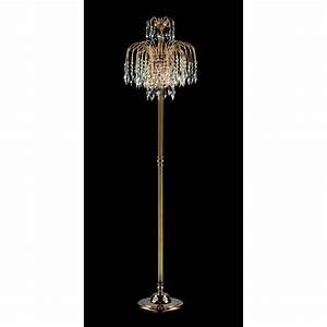 Impex lighting shower 1 light floor lamp at love lights for 3 light crystal floor lamp