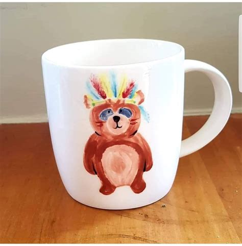 Next on my new mediums to try is tea painting. Bear coffee mug painted at Paint & Create Ceramic Painting ...