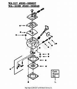 Poulan Gti15 Gas Trimmer Parts Diagram For Carburetors Wa