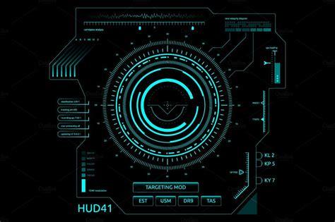 futuristic user interface hud illustrations creative