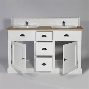 Best salle de bains bois et blanc ideas amazing house for Meuble salle de bain bois 2 vasques