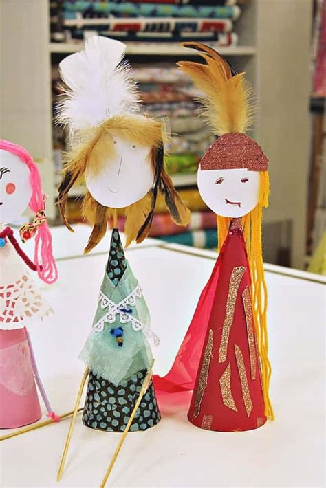 rod puppet art lesson  children puppets