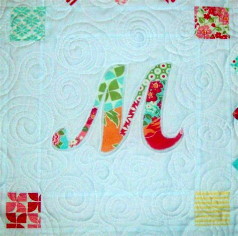 quilt diet patchwork monogram tutorial