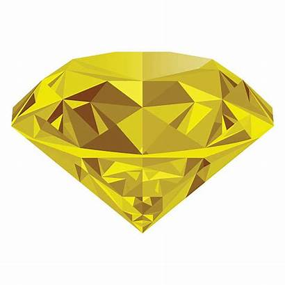 Topaz Yellow Background Isolated Vector Clip Jewel