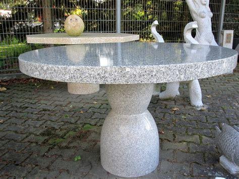 garten steintisch nauhuri com tischplatte rund stein neuesten design
