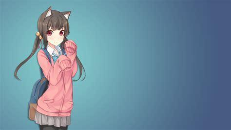 anime anime girls cat girl school uniform animal ears