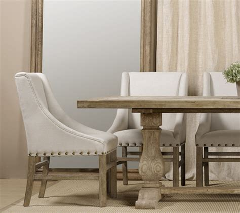 used dining room sets for sale nailhead linen upholstered chairs farmhouse dining