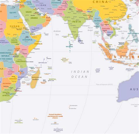 indian ocean political map