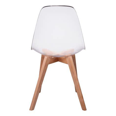 lot de chaise lot de 2 chaises design scandinaves pas cher pieds bois