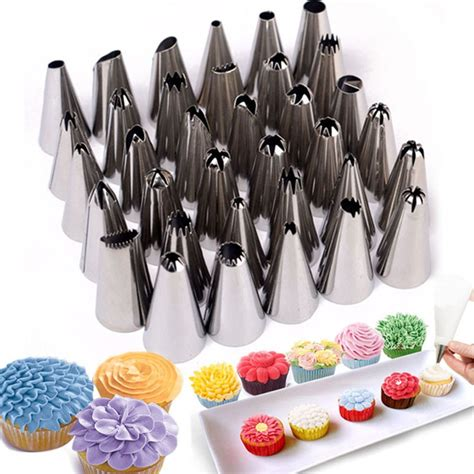 pcssets stainless steel pastry tips cake decorating