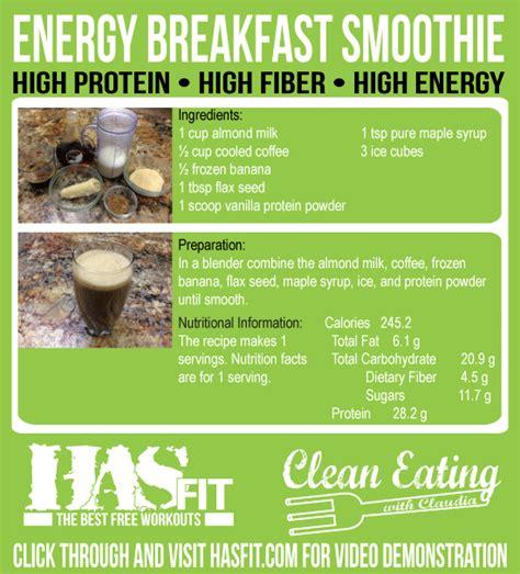 High Energy Breakfast Smoothie Recipe - HASfit Coffee