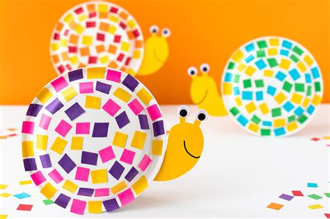 paper plate snail craft   ideas  kids